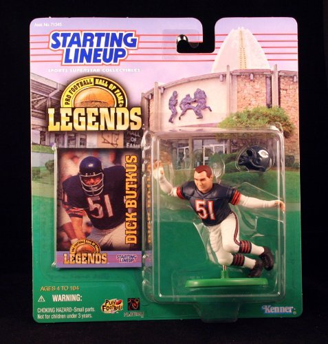 Legends Nfl Football Cards - DICK BUTKUS / CHICAGO BEARS * 1998 Pro Football Hall of Fame Legends NFL Starting Lineup Action Figure & Exclusive NFL Trading Card