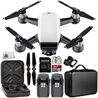DJI Spark Portable Mini Drone Quadcopter Essential Portable Bag Shoulder Travel Case Bundle (Alpine White)