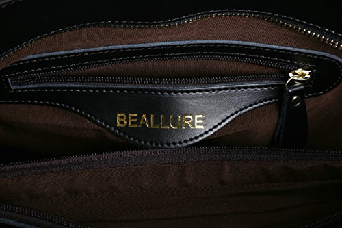 BeAllure Women's Leather Totes for Handbag Shoulder Women Large Black Genuine Bags R1URf