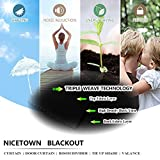 NICETOWN Blackout Curtain for Bathroom Windows