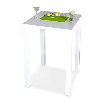 Bar-Tisch Tresen Küchentisch Weiß Hochglanz Stehtisch Bartresen ...