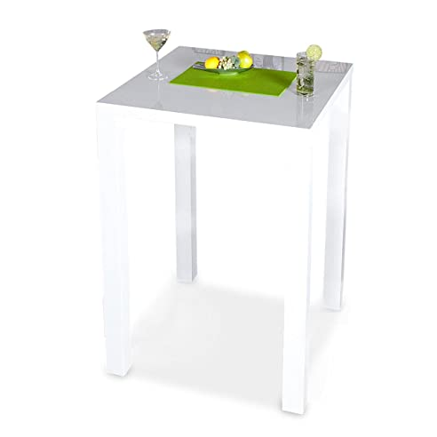 Bar-Tisch Tresen Küchentisch Weiß Hochglanz Stehtisch Bartresen