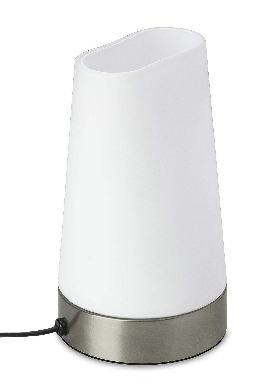 Trango LED Glas Nachttischlampe TG2017-01I TischleuchtePaula inkl 1x E14 LED Leuchtmittel 3000K warmwei/ß