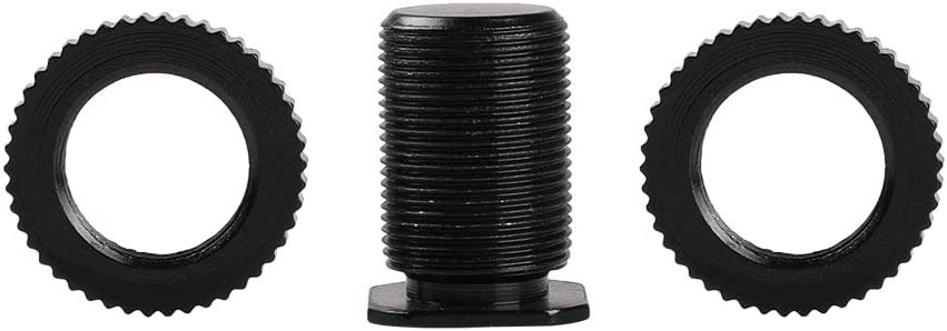 TEZONG Camera Hot Shoe Mount to 5//8-27 Male Threaded Adapter Screw For Microphone Mic Camera 5//8 Flash Shoe 2Pack
