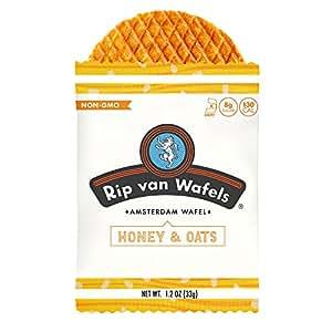 Rip Van Wafels Snack Wafels, Honey and Oats, 1.2oz, 16 Count