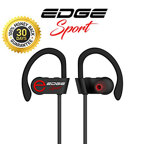 edge sports es500b noise cancelling wireless bluetooth earbuds headphones with microphone amazon. Black Bedroom Furniture Sets. Home Design Ideas