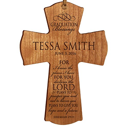 Personalized Graduation gifts for 2016 graduate ideas for men and women custom wall cross For I know the plans I have FOR YOU declares the Lord Jeremiah 29:11 (4.5