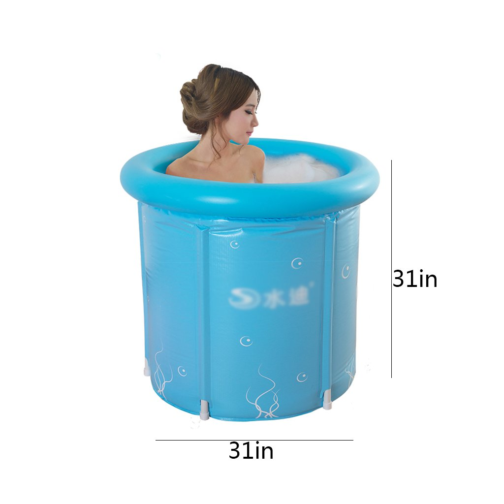 Inflatable Folding Bath tub, Portable Tub Bath Thicker Insulation Adult Home SPA, Air Shower Basin Seat Baths (Size : L) by None (Image #2)