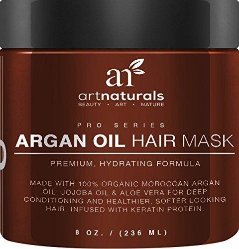 Art Naturals Arganöl Haarmaske, Intensiver Conditioner (236ml), 100% Organisches Jojobaöl, Aloe Vera & Keratin, Repariert Trockenes, Geschädigtes oder Coloriertes Haar, Nach der Haarwäsche, Ideal für alle Hauttypen - Sulfat-frei