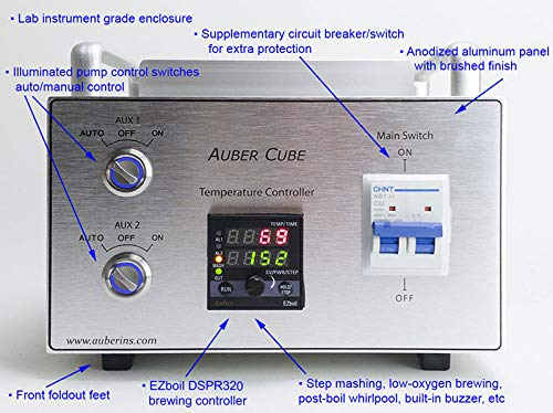 Deluxe 240V BIAB Controller with 2 x 120V Pump Control (CUBE 2S) by Auber Instruments (Image #1)
