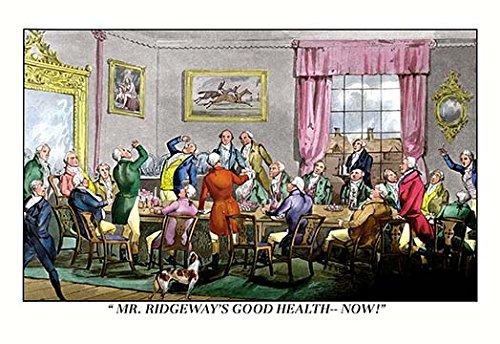 Buyenlarge 0-587-06421-8-C4466 ''Drink to Mr. Ridgeway's Good Health'' Gallery Wrapped Canvas Print, 44'' x 66''