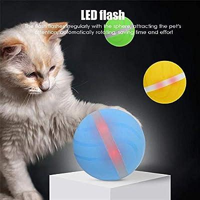 Volwco Pelota eléctrica USB para Mascotas, Pelota de Flash con ...