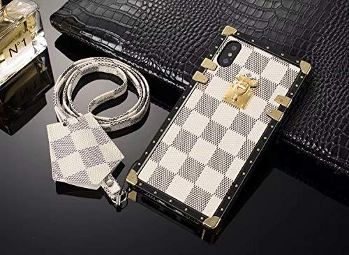 the latest 422d0 03ac7 Case iPhone Xs MAX, Elegant Luxury Checkerboard Monogram Designer ...