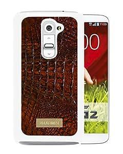 Brahmin 01 White New Design LG G2 Protective Phone Case