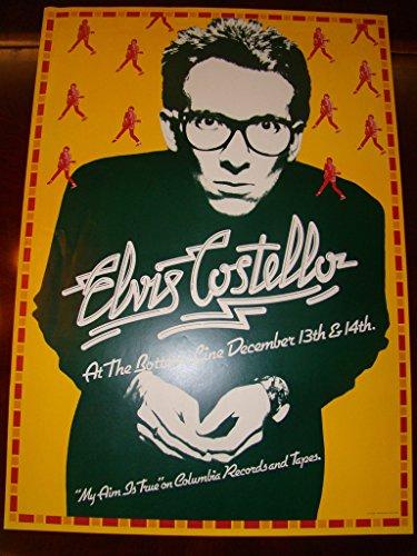 - Elvis Costello Music Poster Elvis Costello 77 Columbia Promo