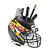 NCAA Maryland Terrapins Helmet Desk Caddy, Flag Matte Black by Schutt