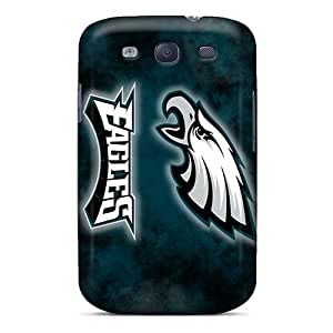 Rugged Skin Case Cover For Galaxy S3- Eco-friendly Packaging(philadelphia Eagles)