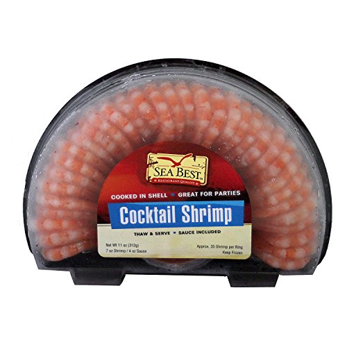 Sea Best Half Moon Style Shrimp Rings with Sauce, 11 ()