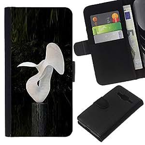 Stuss Case / Funda Carcasa PU de Cuero - Abstracta moderna Random Arte Blanco Estatua de la sirena - Samsung Galaxy Core Prime