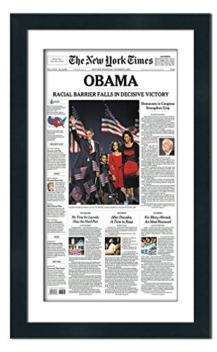 Poster Palooza Newspaper Frame with Mat - Made to Display Media Measuring 12x22 Inches