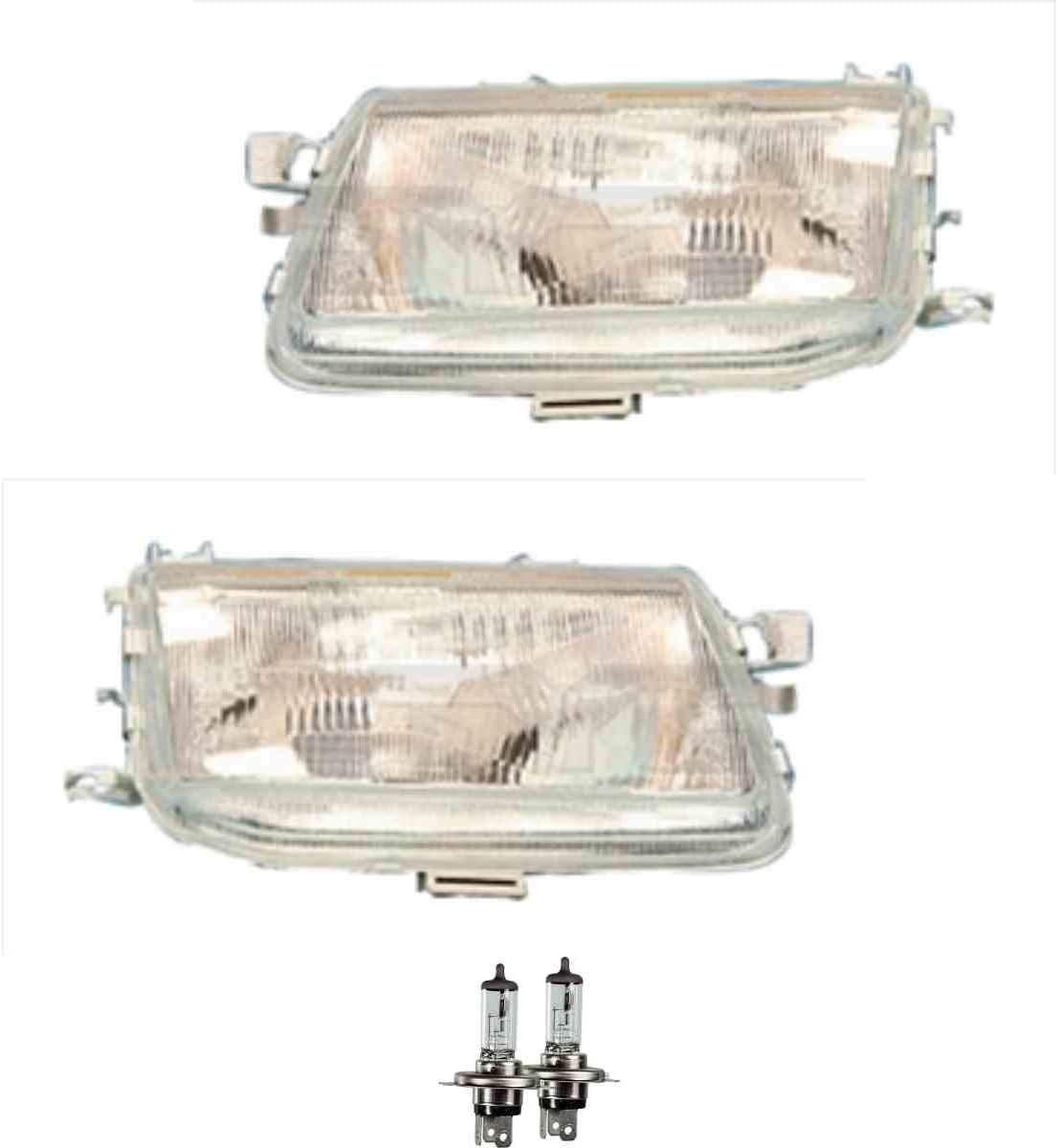Scheinwerfer Set H4 f/ür Astra F CC 53/_ 54/_ 58/_ 59/_ 51/_ 52/_ 56/_ inkl OSRAM Lampen mit Lampentr/äger