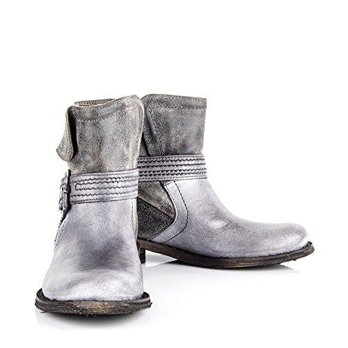 Felmini - Zapatos para Mujer - Enamorarse con Gredo 8533 - Botines Clasicas - Cuero Genuine - Gris - EU: