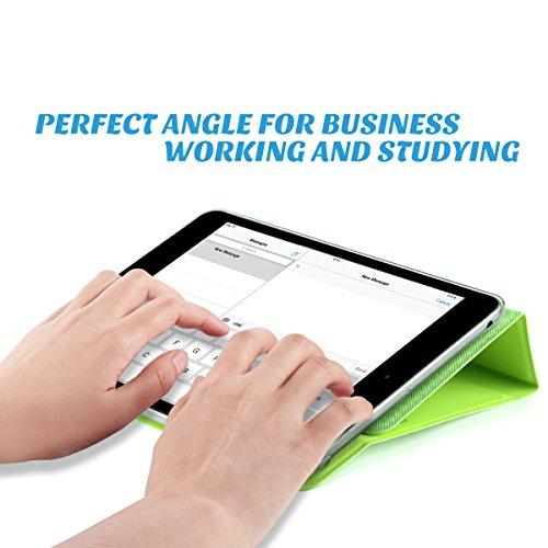 ULAK Ultra Slim 360 Rotating Smart Sleep / Wake Stand Case for Apple iPad Mini 1 / 2 / 3 - Green Photo #9