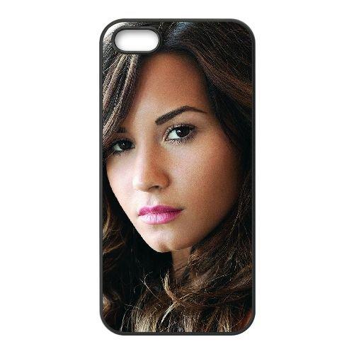 Demi Lovato 010 coque iPhone 4 4S cellulaire cas coque de téléphone cas téléphone cellulaire noir couvercle EEEXLKNBC24520