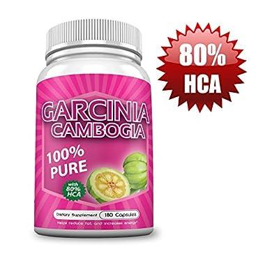 Vita Vibrance 80% HCA(Highest Potency)Garcinia Cambogia Supplement