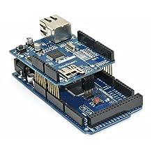 SainSmart Arduino MEGA, ATmega2560 + SainSmart Ethernet Shield for UNO Mega2560 1280 Duemilanove R3 AVR ATMEL Robot
