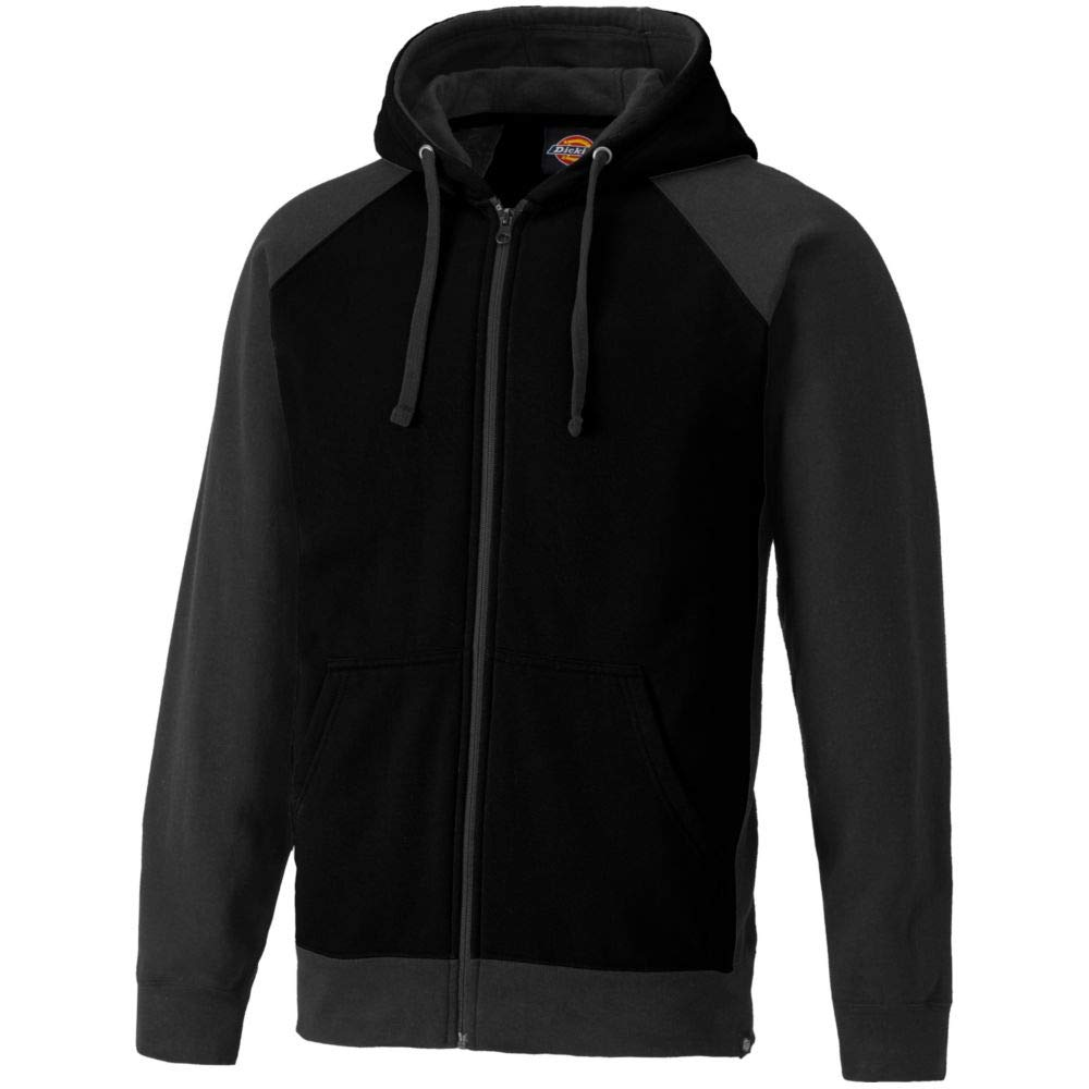 Dickies Mens Two Tone Polycotton Full Zip Adjustable Hooded Sweatshirt