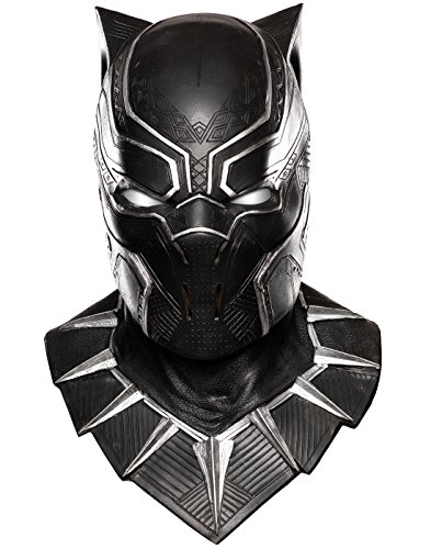 Rubie's Costume Co. Men's Captain America: Civil War Panther Overhead Latex Mask, Black, One (Black Panther Costume For Men)