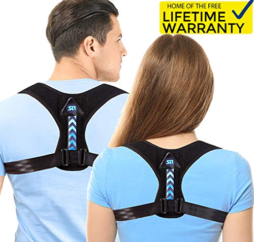 Updated 2019 Version Perfect Adjustable Posture Corrector for Men and Women - Upper Back Brace for Clavicle Support and Providing Pain Relief from Neck Shoulder Upright Straightener Comfortable