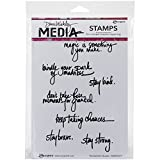 Ranger Dina Wakley Media Cling Stamps 6 by 9-Inch, Handwritten Quotes
