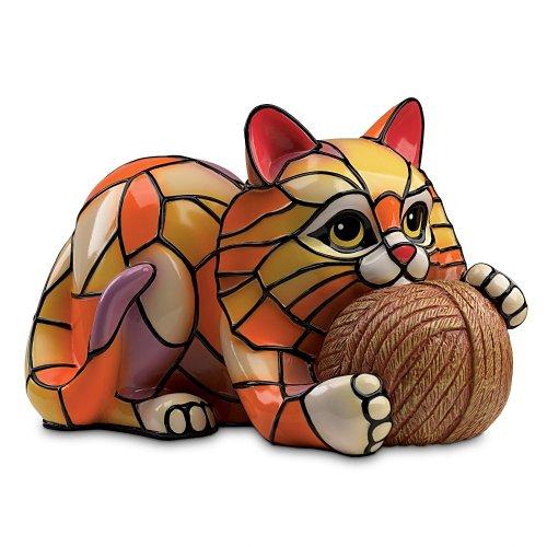 """The Cat's Meow"" Louis Comfort Tiffany-Style Vinyl Lamp b..."
