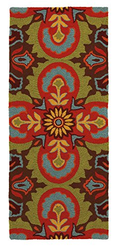 "Price comparison product image Company C Talavera Synthetic Runner,  2'6"" x 8' ,  Espresso"
