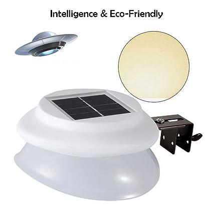 KOBWA UFO - Luces solares para exteriores, sensor de movimiento, funciona con energía solar