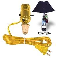 El kit Easy Lamp convierte una botella de vino en una lámpara instantánea (lote de 2)
