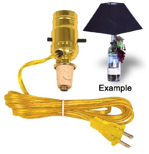 Easy Lamp Kit Turns a Wine Bottle Into An Instant Lamp (Lot of 2)