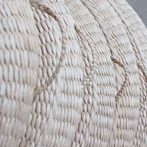 RXY-Wicker chair Summer Cool and Ventilated Round Japanese Style Thick Rattan Cushion Meditation Tea Ceremony Coffee Table Cushion [1pack] (Size : 40cm) by RXY-Wicker chair (Image #2)