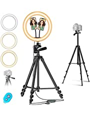12inch Ring Light Tripod with Stand Phone Holder Perfect for Photography,Video Shooting, YouTube Video, Mountdog Selfie Light Ring Compatible with iPhone Xs, MAX, XR, and Camera