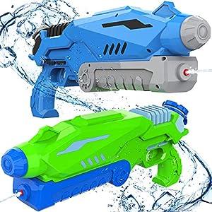 Joyjoz Pistole ad Acqua 2 PCS, 800ML Potente Pistola ad Acqua per Bambini e Adulti Estivi All'aperto Giocattoli per… 4 spesavip