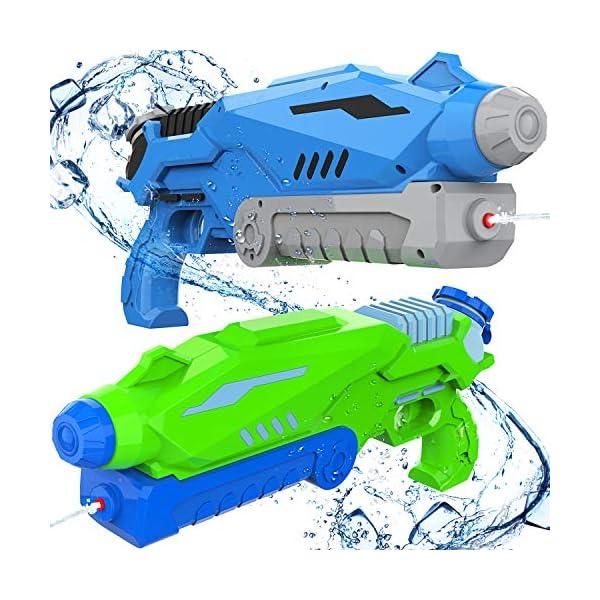 Joyjoz Pistole ad Acqua 2 PCS, 800ML Potente Pistola ad Acqua per Bambini e Adulti Estivi All'aperto Giocattoli per… 1 spesavip