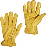 1 Pair Premium Grain Sheepskin Leather Unlined Driver Garden Glove (Small)