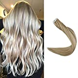 """Full Shine Tape in 16"""" Remy Human Hair Extensions Real Hair Tape in"""