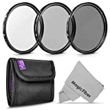 62MM Altura Photo Professional Photography Filter Kit (UV, CPL Polarizer, Neutral Density ND4) for Camera Lens with 62MM Filter Thread and Filter Pouch