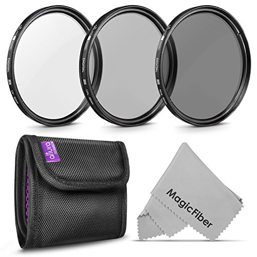 62MM Altura Photo Professional Photography Filter Kit (UV, CPL Polarizer, Neutral Density ND4) for Camera Lens with 62MM Filter Thread + Filter Pouch by Altura Photo