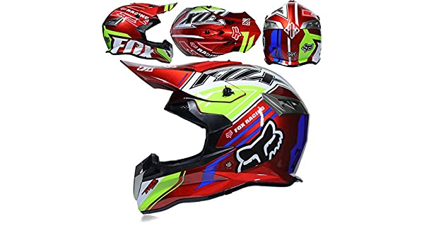CFYBAO Casco Adulto Motocicleta Todoterreno Casco Fox Personalidad Creativa Four Seasons Casco Equitación Racing Casco Full Face: Amazon.es: Deportes y aire ...