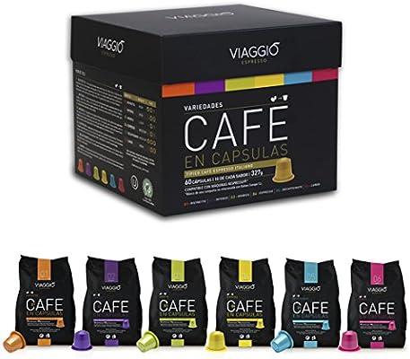 VIAGGIO ESPRESSO - 240 Cápsulas de Café Compatibles con Máquinas Nespresso - PACK PREMIUM