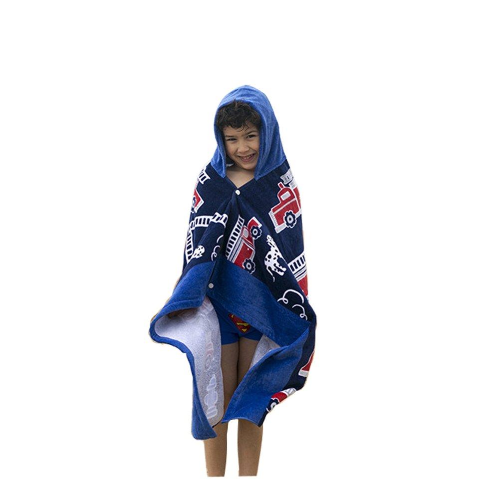 AteAte Cute Cartoon Baby Kid's Hooded Bath Towel Toddler Boy Girls Beach Towel New (Fire Truck)
